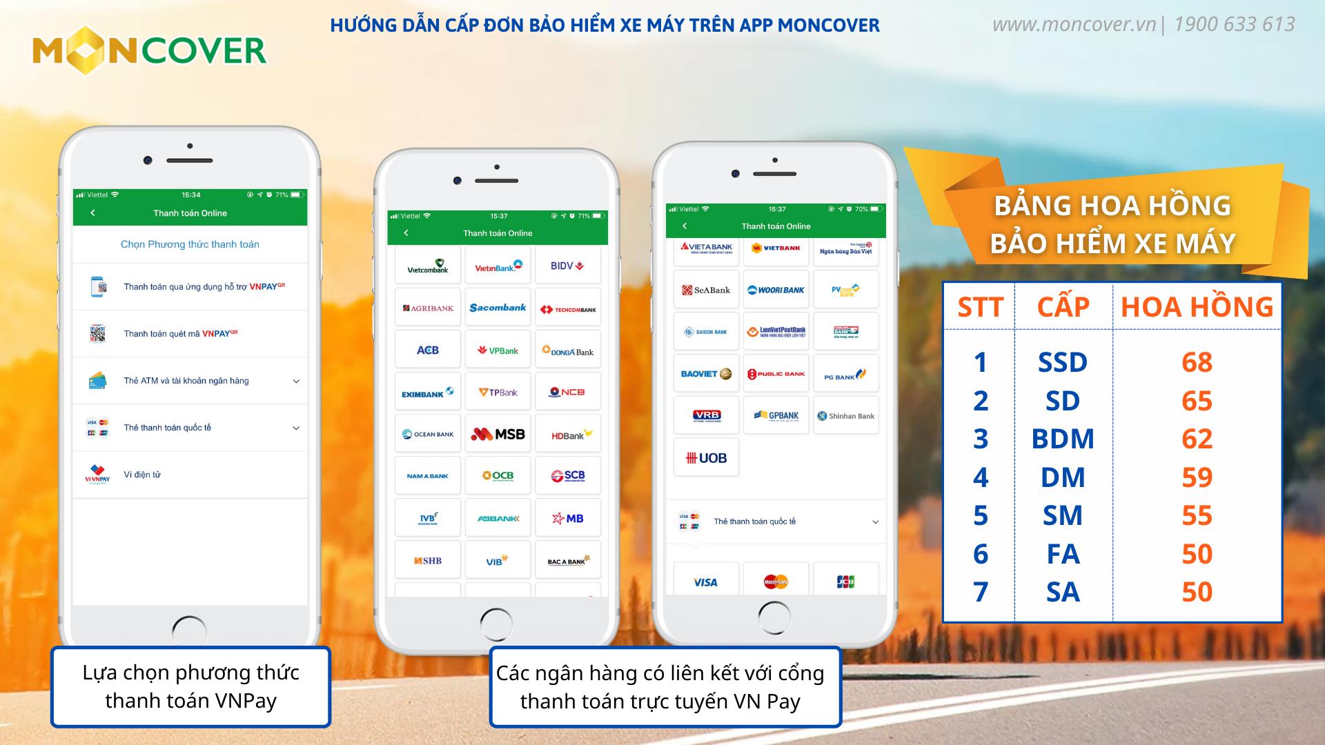 Hướng dẫn bán bảo hiểm xe máy trên app Moncover
